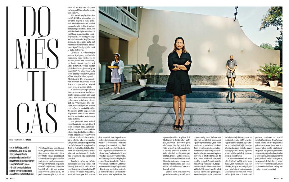 Domésticas in Magnus Magazine