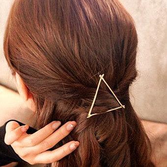 Minimalist Triangle Hair Clip