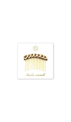Classic Chain Hair Comb | Gold