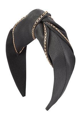 Black Chain Fabric Headband
