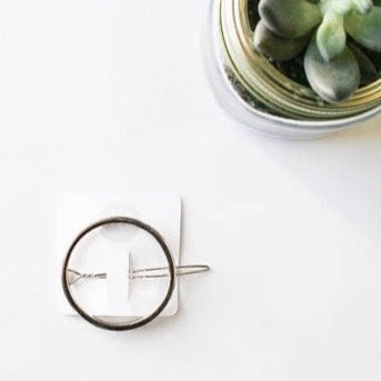 Silver Open Circle