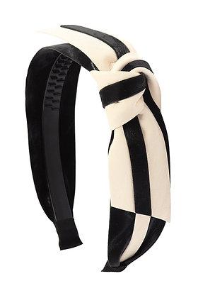 Striped Leather Headband