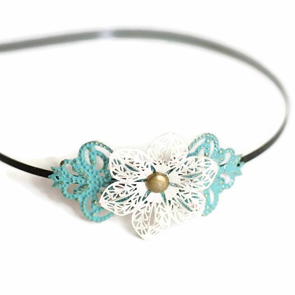Beginnings Filigree Flower Headband