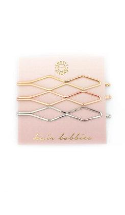 Diamond Hair Bobbies     Gold/Rose Gold/Rhodium