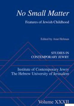 """""""Growing in the Shadow of the Past: Second Generation Holocaust Survivors' Childhoods as depicted in Israeli Documentary Films"""", Studies in Contemporary Jewry, Vol. 32, 2021ת pp. 157-168."""
