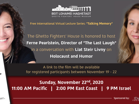 """The Ghetto Fighter's House Eighth Lecture in the International Virtual Series """"Talking Memory"""""""