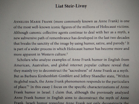 """A New article in the book """"Laughter After: Humor and the Holocaust"""""""