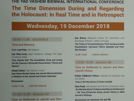 A Talk at The Yad Vashem Biennial International Conference