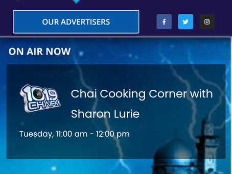 Radio Interviews on Chai FM101.9, Johannesburg