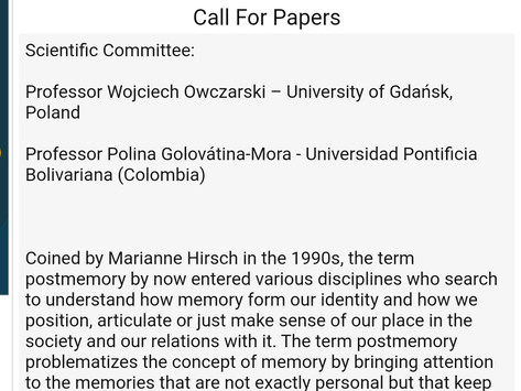 Conference - Postmemory and the Contemporary World