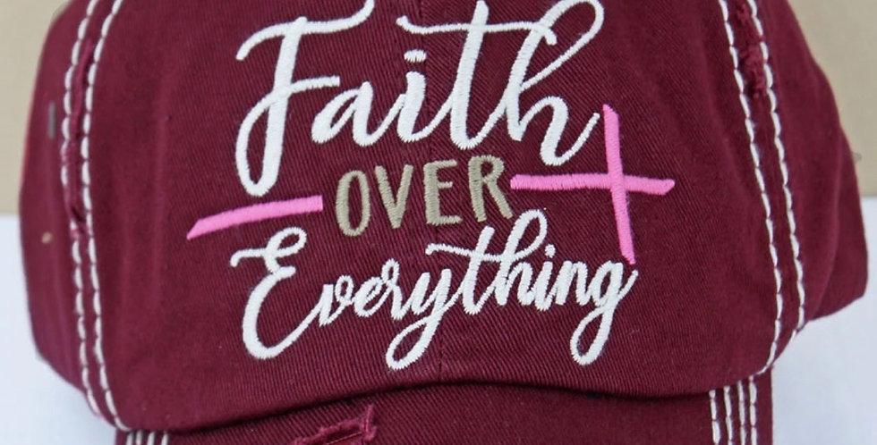 Faith Over Everything Cap
