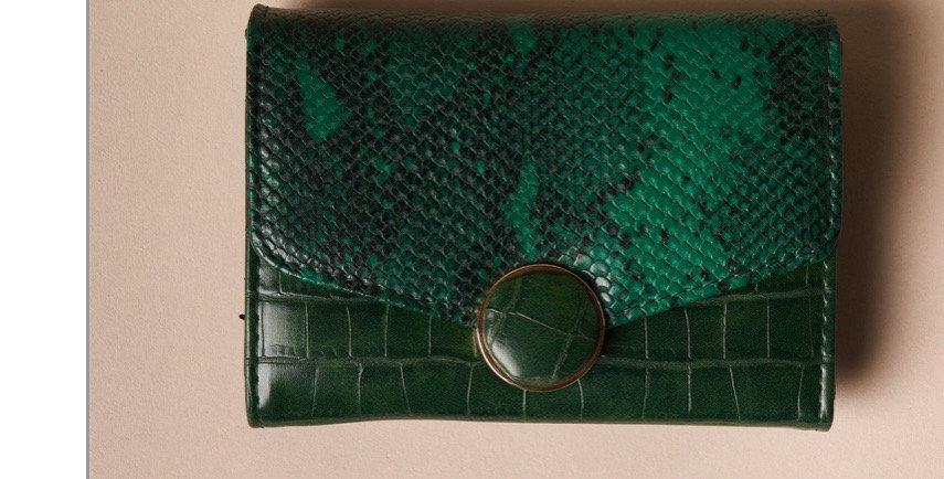 Snakeskin Wallet-Green