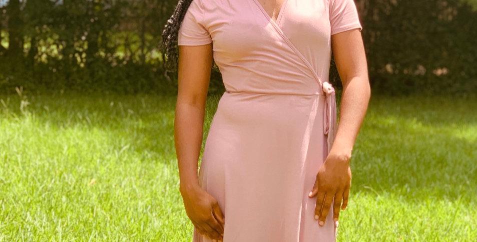 Charli Nude Tie Dress