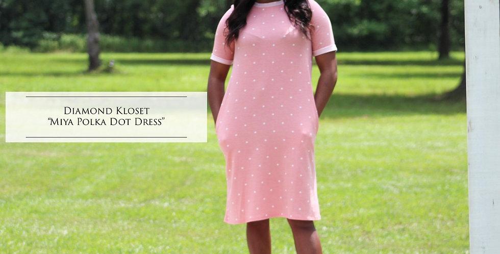 Mya Polka Dot Tshirt Dress
