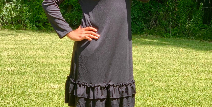 Gilly Ruffle Mock Neck Dress