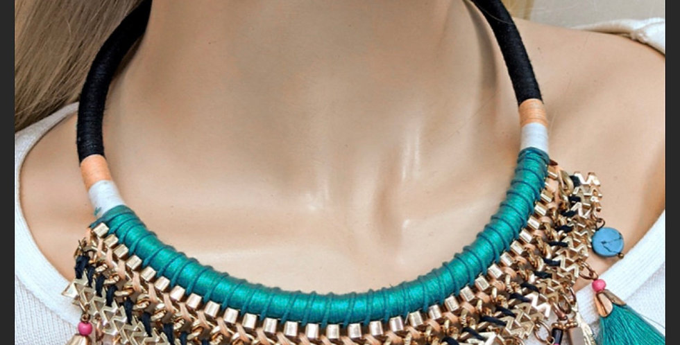 True Blue Tribal Necklace