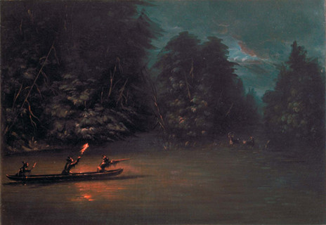 George_Catlin_-_Deer_Hunting_by_Torchlig