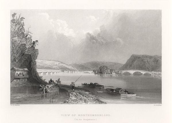 B6. Bartlett - View of Northumberland c1