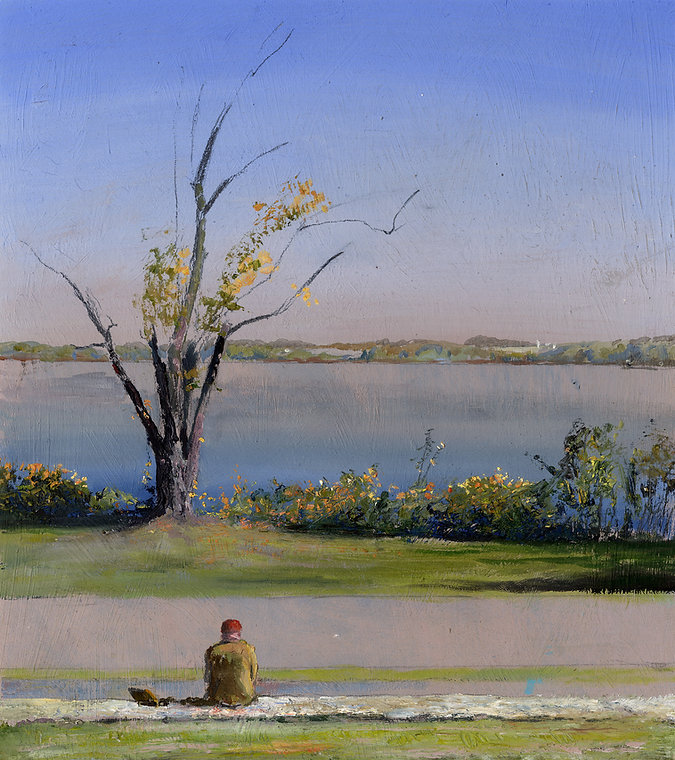 George Sorrels Painting the Susquehanna.