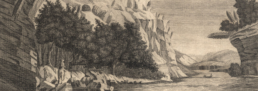 """A View on the Juniata River"" (from Columbian Magazine)"