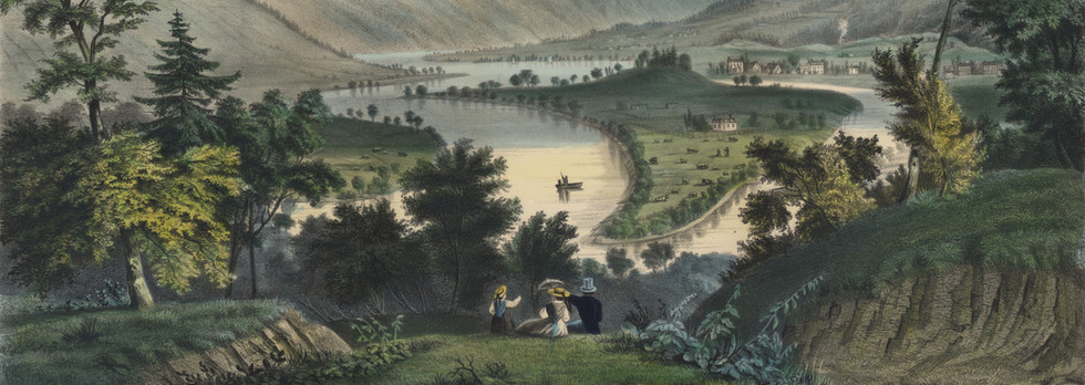 "Currier and Ives, ""The Valley of the Susquehanna"""