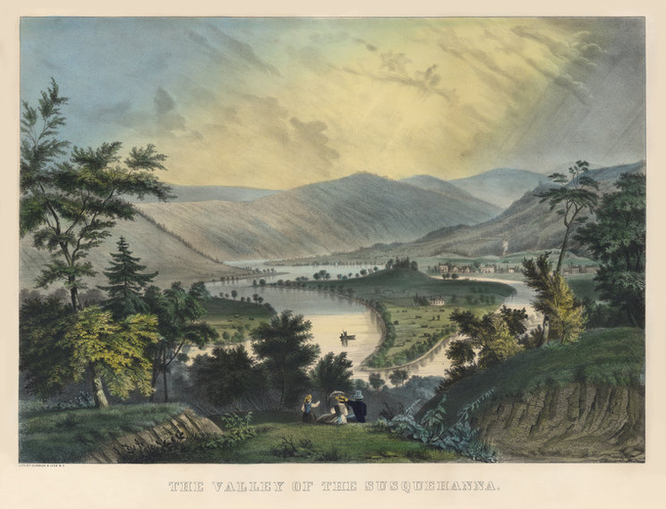 Currier and Ives - Valley of the Susqueh