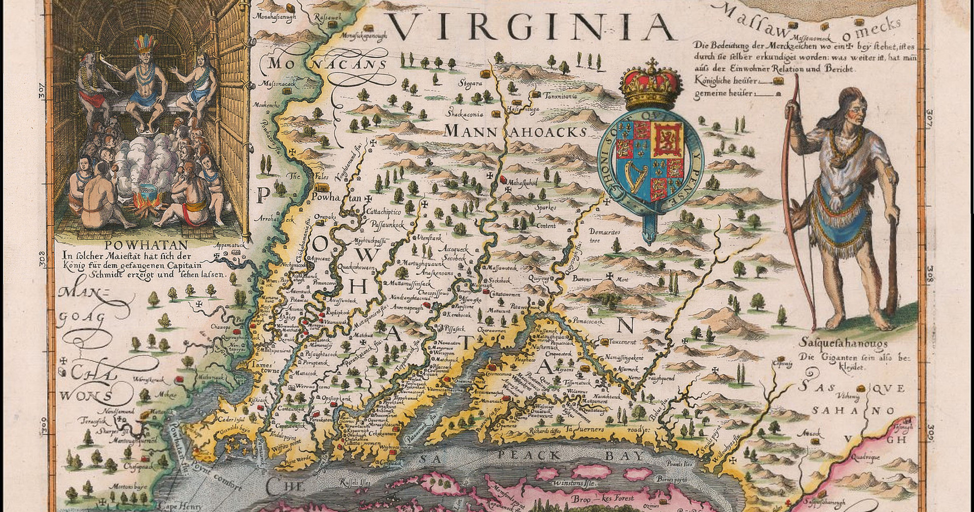 "Matthaus Merian the Elder, ""John Smith Map of Virginia"""