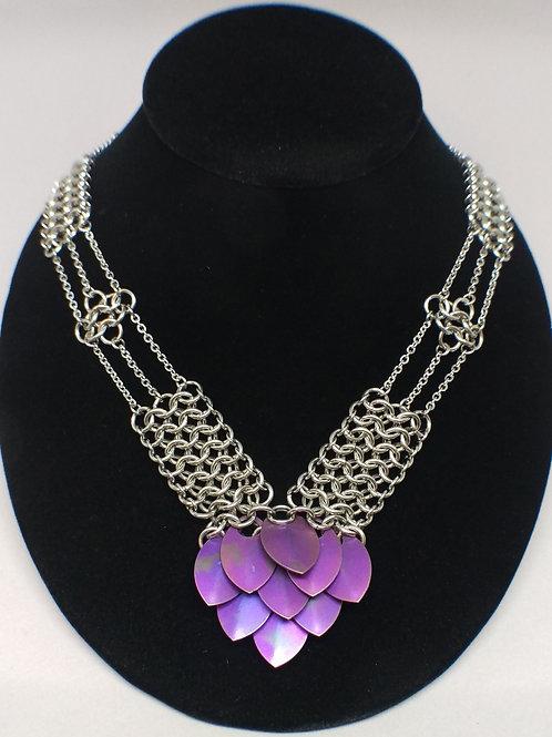 Titanium scale necklace