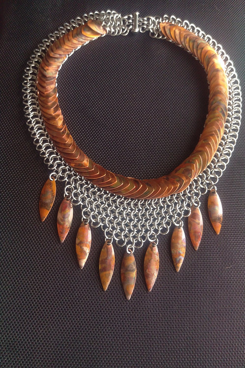 Flamed Copper Collar
