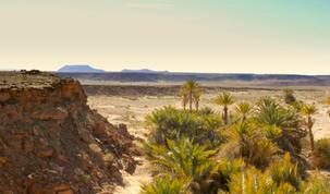El Oasis de fsafsaf en el corazón del desierto de ERG CHABBI