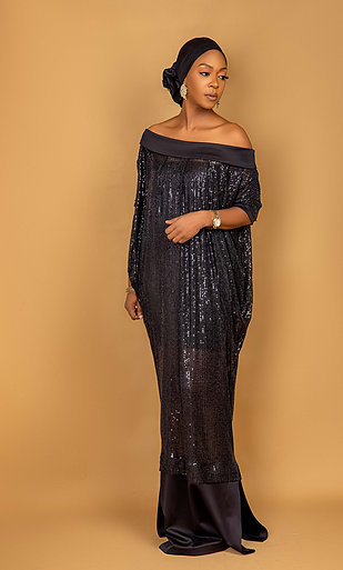 Black Olori bubu dress