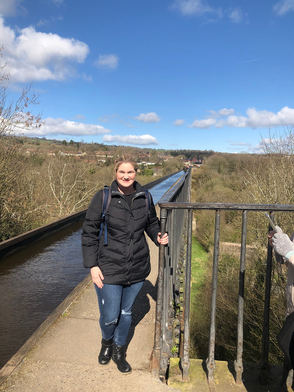Me on top of the Pontcysyllte Aqueduct and Canal