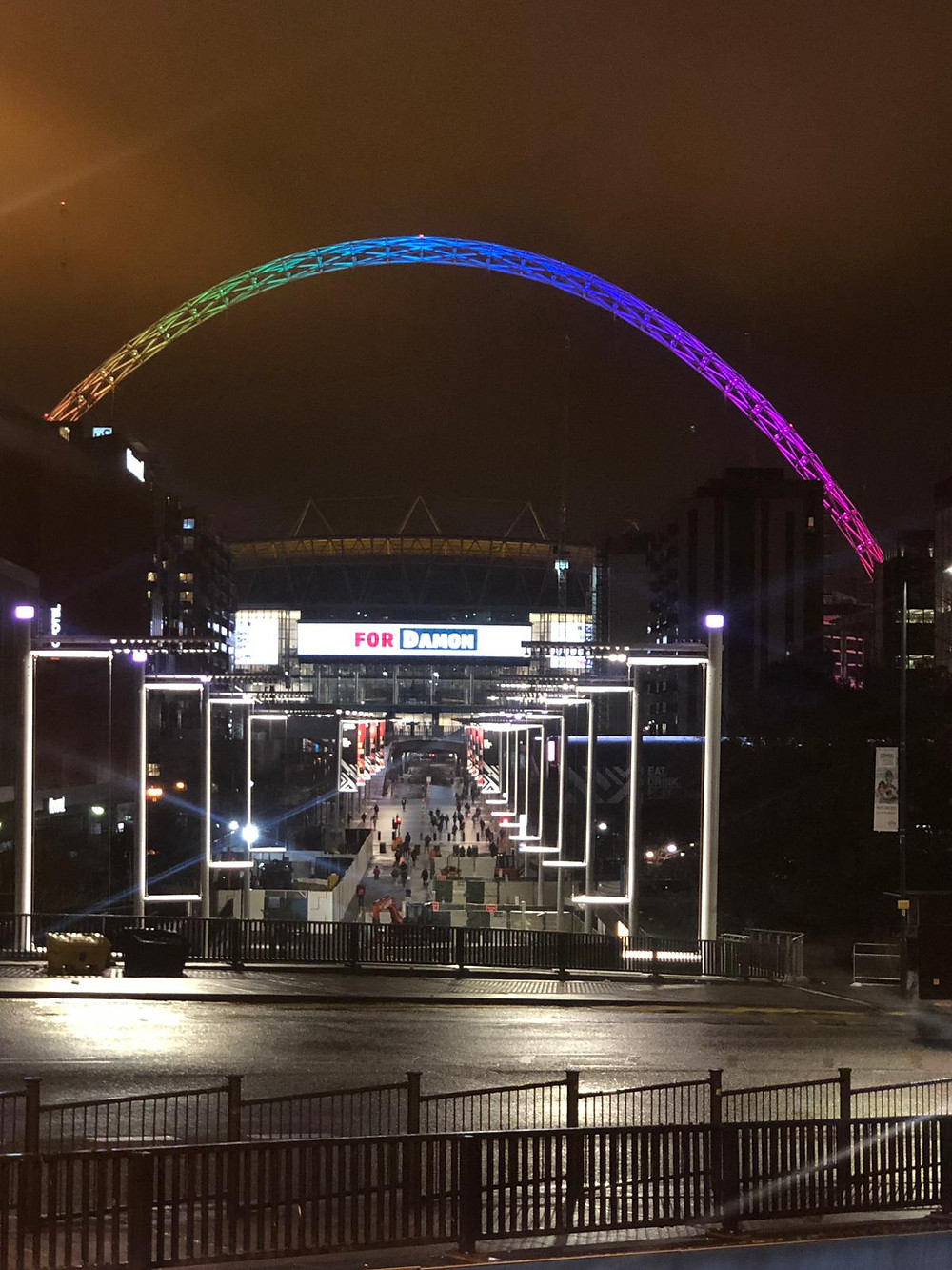 Wembley Park Stadium at Night