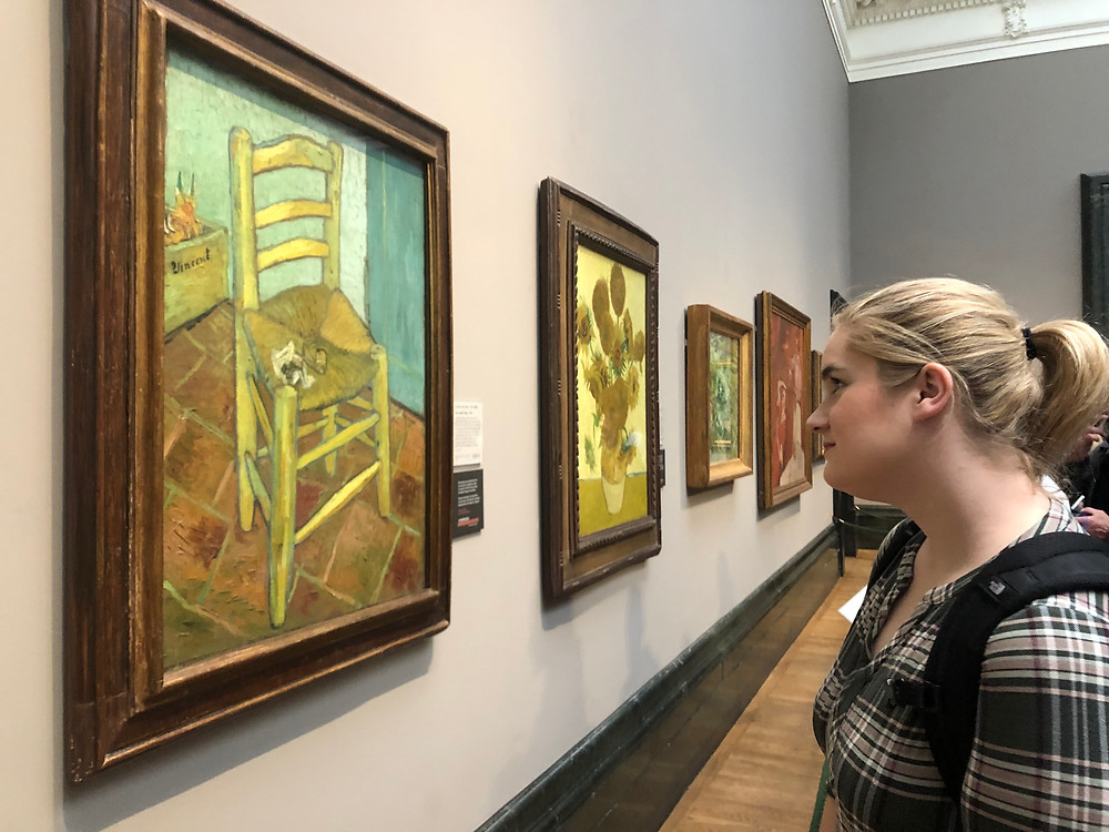 Me viewing artwork at the National Gallery in London