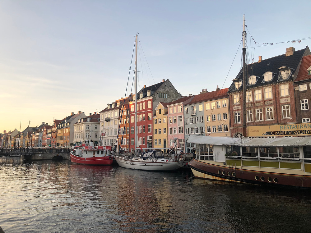 The beautiful view of Nyhavn