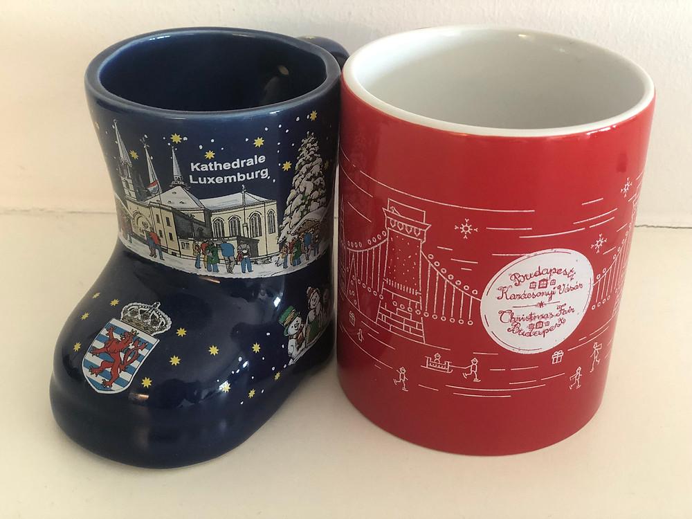 Left: Luxembourg Mug 2018 Right: Budapest Mug 2018