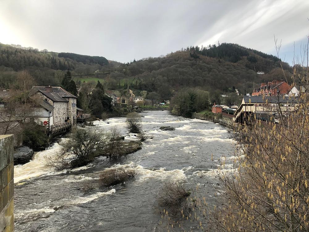View from a bridge in Llangollen