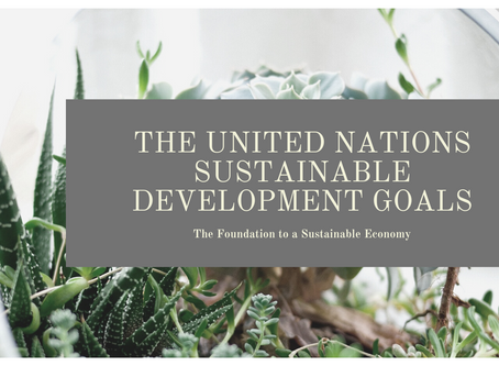 The United Nations Sustainable Development Goals: The Foundation to a Sustainable Economy