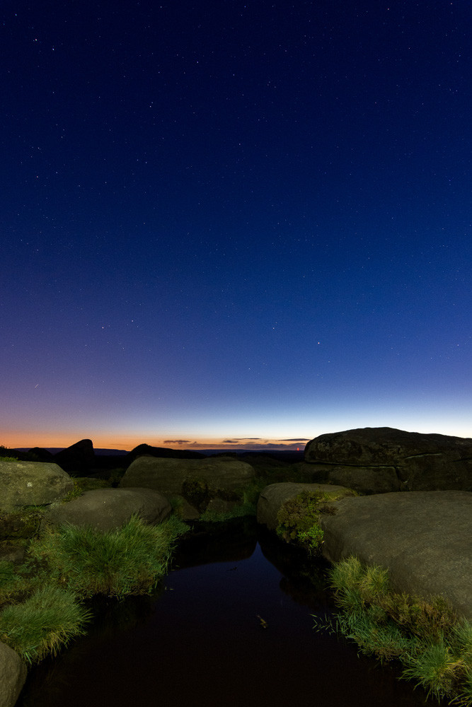 Landscape photography Sheffield nightscape astrophotography