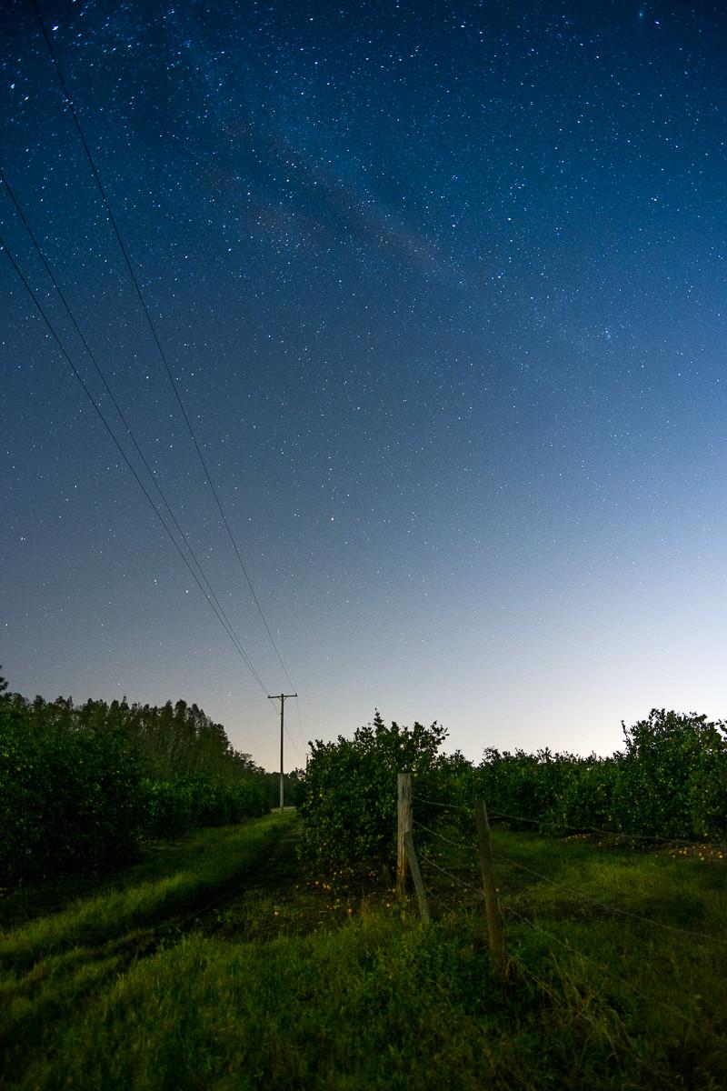 Astrophotography tutorial milky way orange grove florida