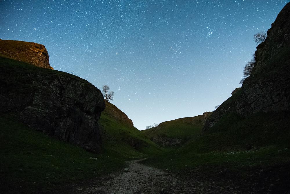 Astrolandscape nightscape photography Cave Dale Castleton