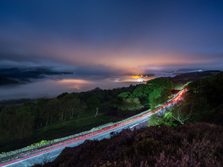 Photographing a cloud inversion in the Peak District