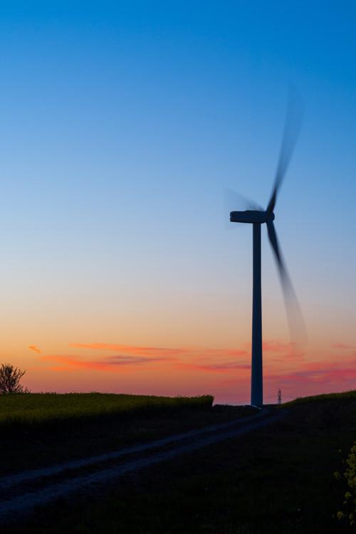 landscape photography sheffield wind turbine sunset