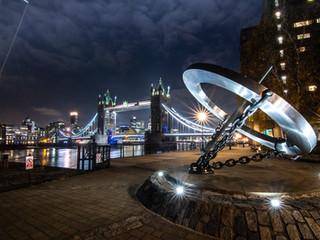 Night time cityscape photography in London