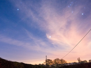 Landscape photography at night - astrophotography in Derbyshire