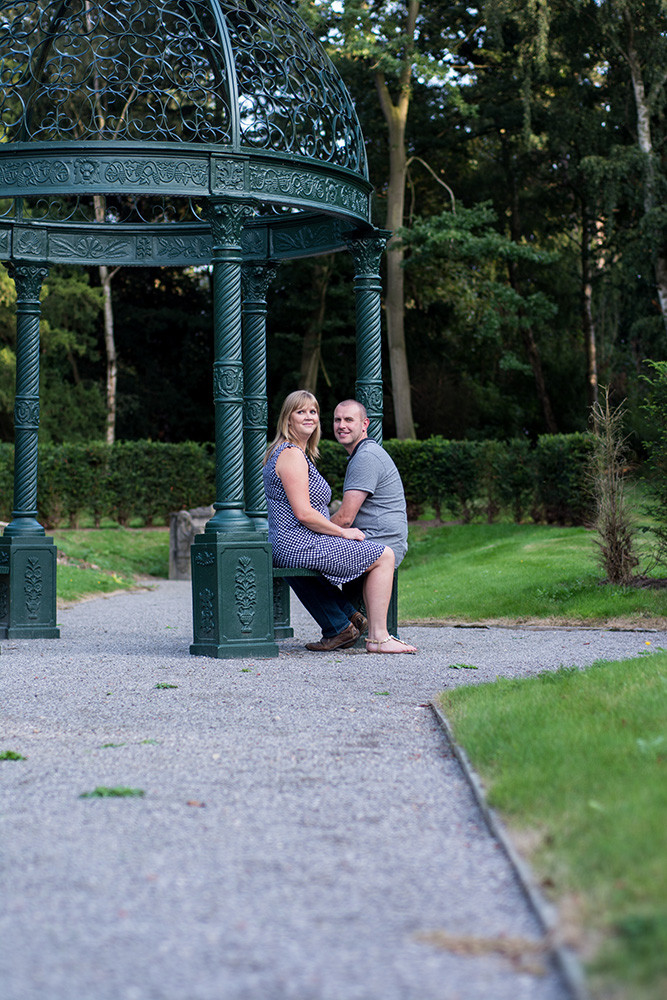 Yorkshire engagement photography at Rossington Hall