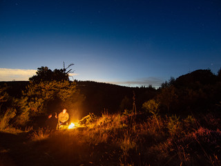 Astrolandscape photography | North York Moors wild camping | Night time landscape photography