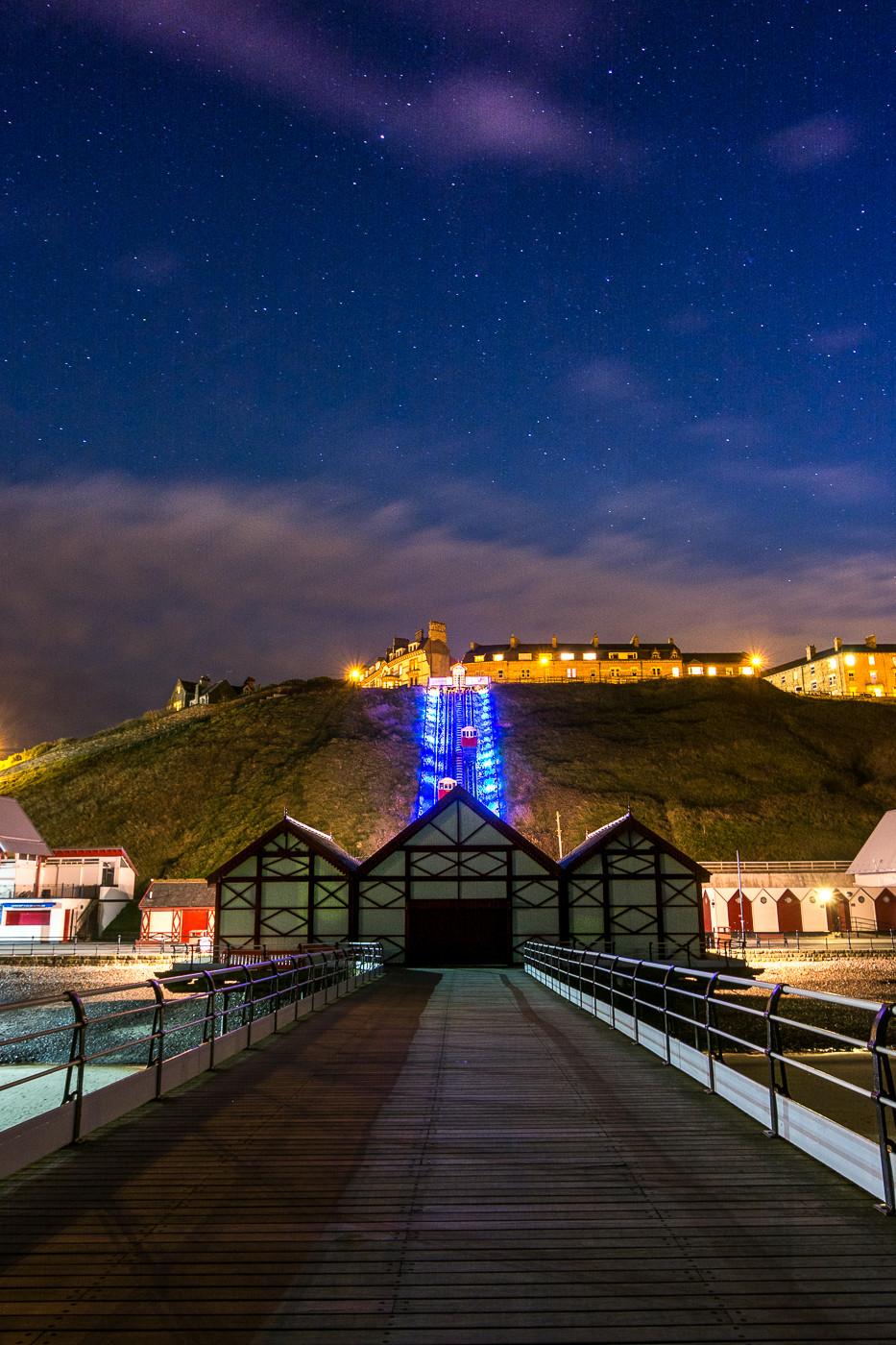 Saltburn Pier UK astrophotography