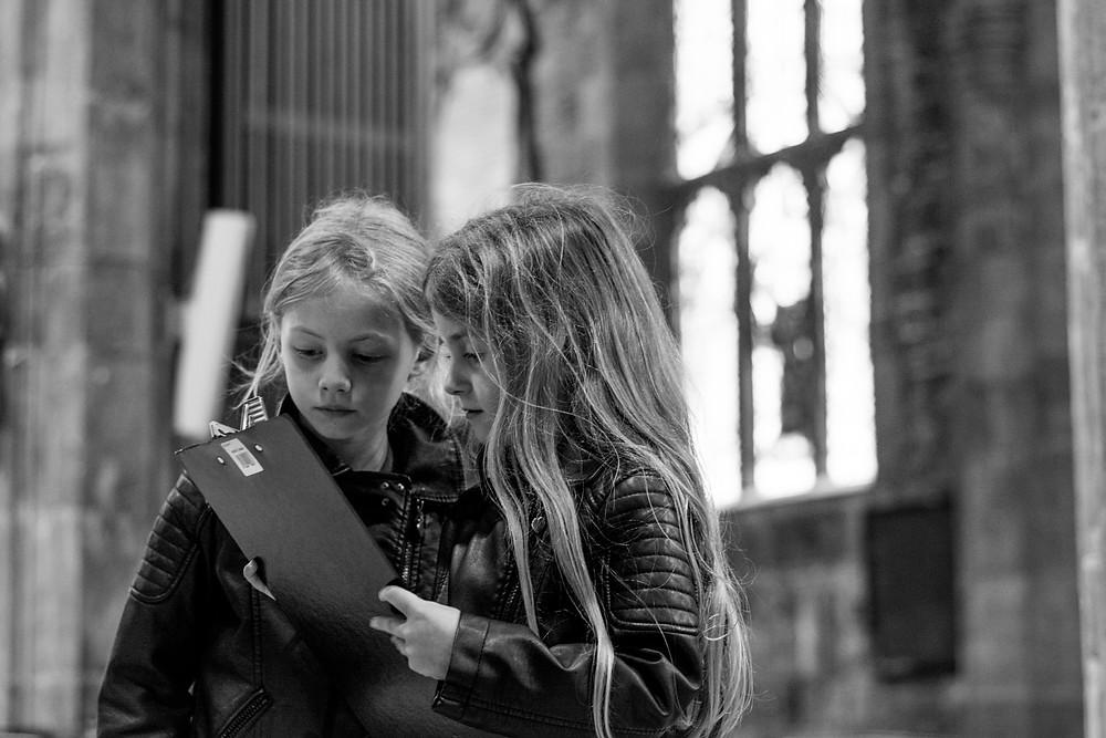Treasure hunt at Sheffield Cathedral