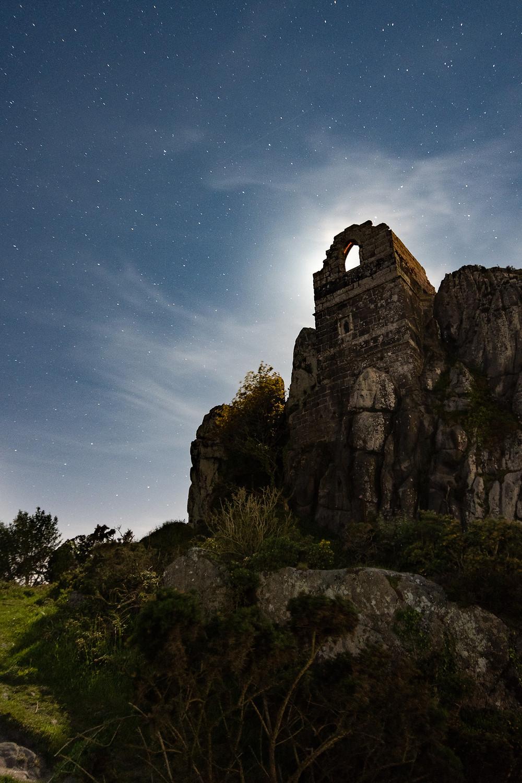 Roche Rock nightscape astrolandscape cornwall